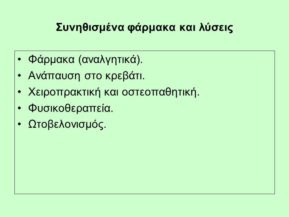 Συνηθισμένα φάρμακα και λύσεις Φάρμακα (αναλγητικά).