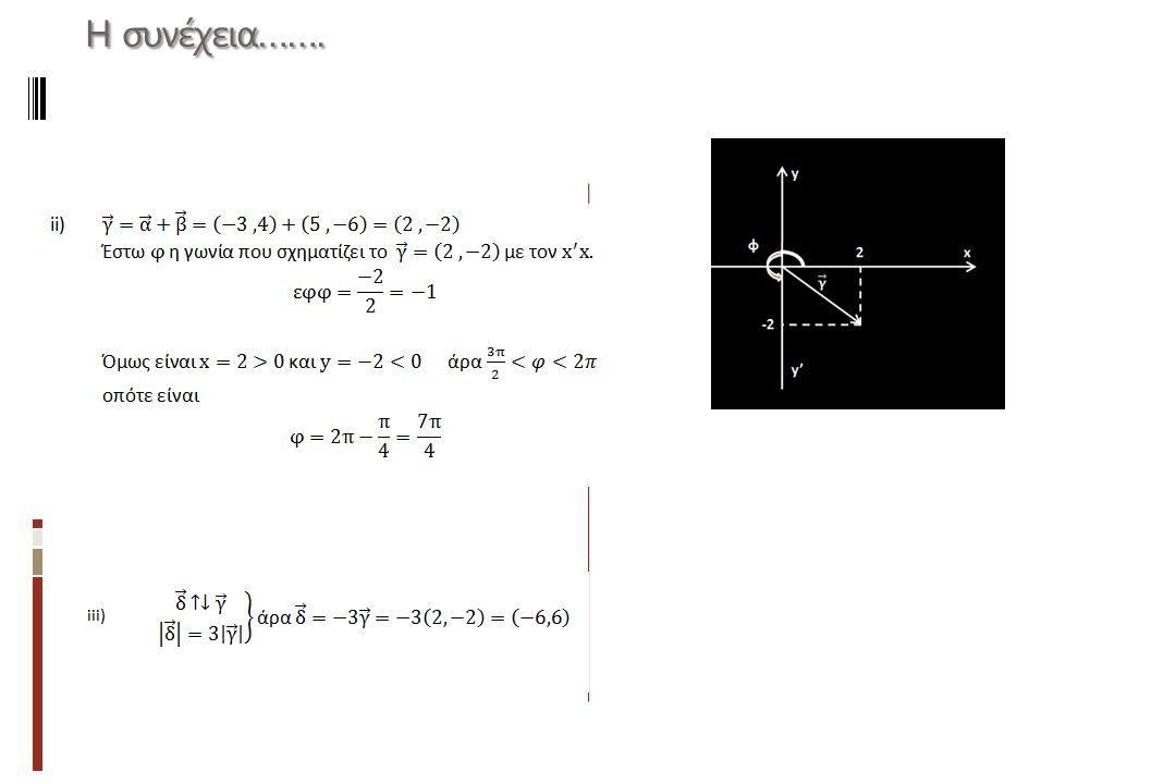 Διάνυσμα παράλληλο προς τον x x και τον y΄y