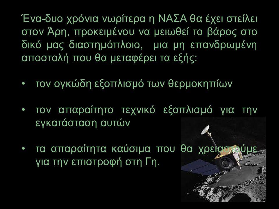 Θα αναχωρήσουμε στις 12 Μαϊου του 2024 για να φτάσουμε στον Άρη στις 12 Ιανουαρίου 2025.