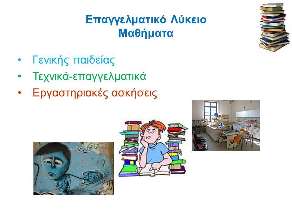 ΜΑΘΗΜΑΤΑ ΓΕΝΙΚΗΣ ΠΑΙΔΕΙΑΣ (κοινά) Α΄ ΤΑΞΗ ΜαθήματαΏρες Ελληνική Γλώσσα 1 Νέα Ελληνική Γλώσσα3 Νέα Ελληνική Λογοτεχνία1 Θρησκευτικά1 Ιστορία1 Μαθηματικά 2 Άλγεβρα3 Γεωμετρία1 Φυσικές Επιστήμες 3 Φυσική2 Χημεία2 Ξένη Γλώσσα (Αγγλικά)2 Φυσική Αγωγή2 Πολιτική Παιδεία (Οικονομία, Πολιτικοί Θεσμοί & Αρχές Δικαίου και Κοινωνιολογία) 2 Πληροφορική2 ΣΥΝΟΛΟ 22
