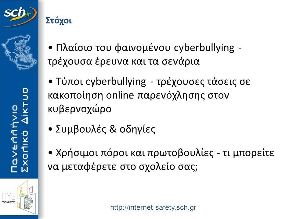 Υπουργείο Παιδείας & Θρησκευμάτων Πολιτισμού και Αθλητισμού Πλαίσιο cyberbullying