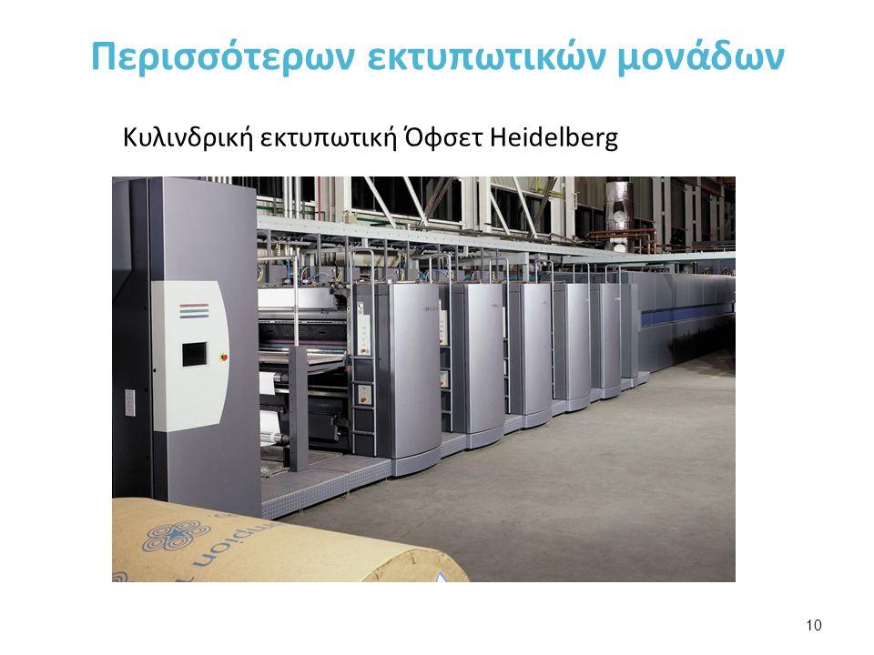Περισσότερων εκτυπωτικών μονάδων 10 Κυλινδρική εκτυπωτική Όφσετ Heidelberg