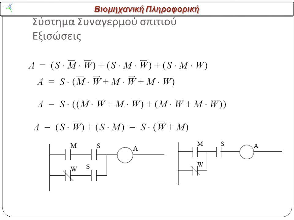Βιομηχανική Πληροφορική Σύστημα Συναγερμού σπιτιού Εξισώσεις 27