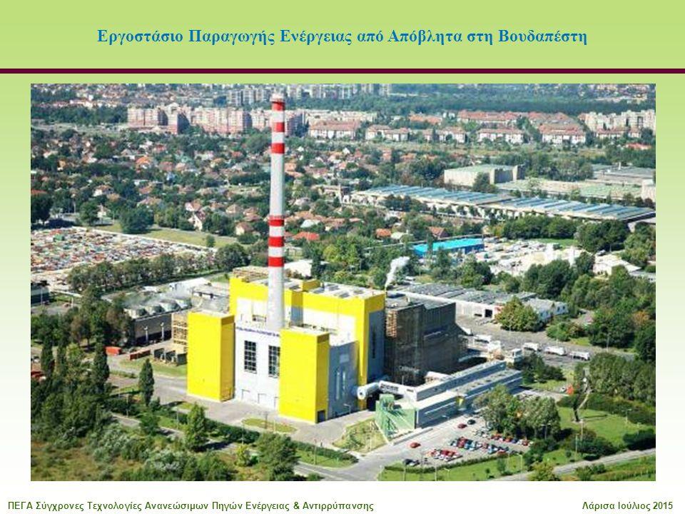 Εργοστάσιο Παραγωγής Ενέργειας από Απόβλητα στη Βουδαπέστη ΠΕΓΑ Σύγχρονες Τεχνολογίες Ανανεώσιμων Πηγών Ενέργειας & ΑντιρρύπανσηςΛάρισα Ιούλιος 2015