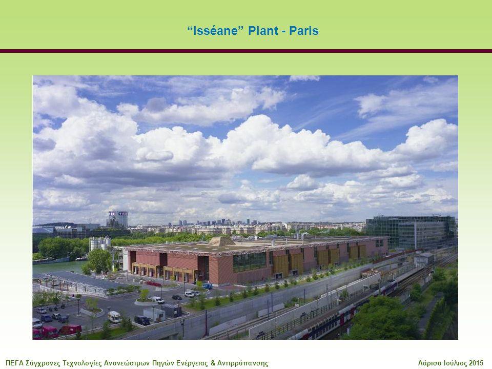 Isséane Plant - Paris ΠΕΓΑ Σύγχρονες Τεχνολογίες Ανανεώσιμων Πηγών Ενέργειας & ΑντιρρύπανσηςΛάρισα Ιούλιος 2015
