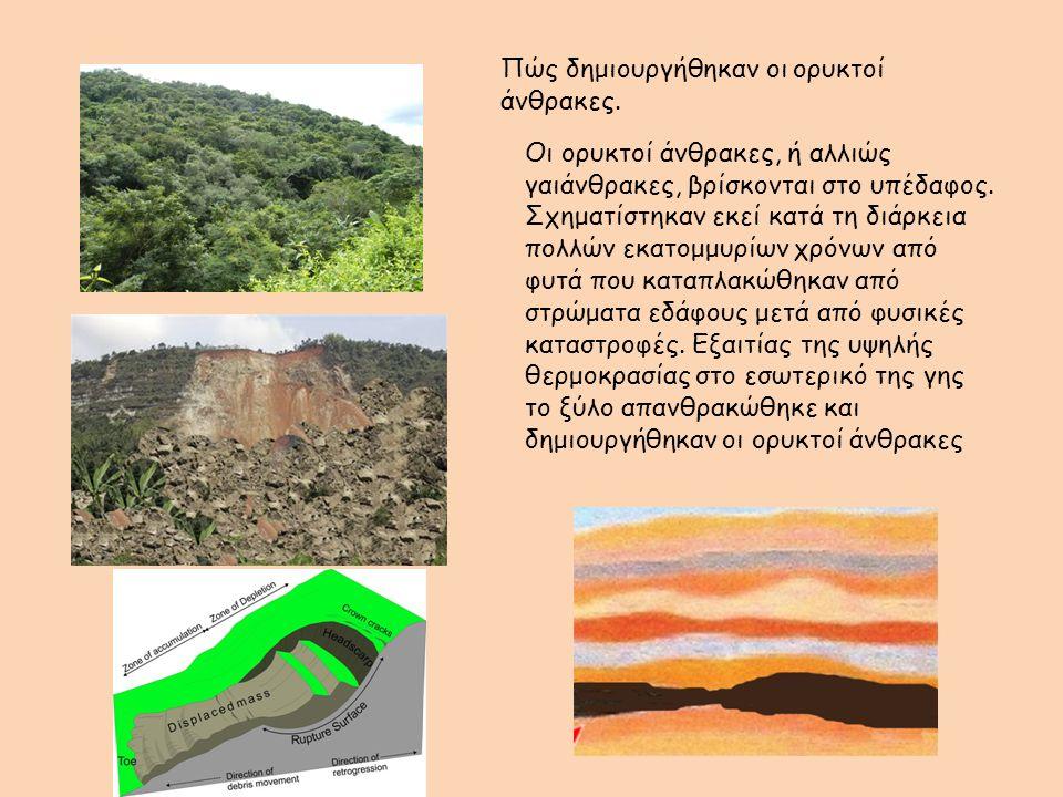 Πώς δημιουργήθηκαν οι ορυκτοί άνθρακες.