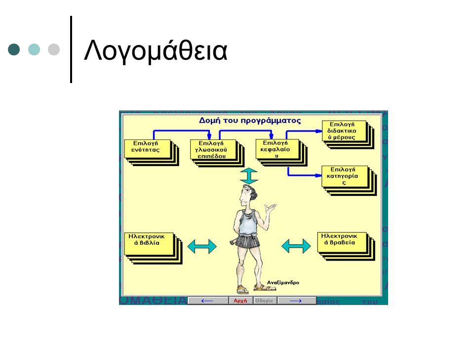 Λογισμικά εξάσκησης και πρακτικής Μαθητές ή χρήστες που είναι ήδη εξοικειωμένοι Έλεγχος των αποκτηθέντων εκτός συστήματος γνώσεων Απλά με το πάτημα ενός πλήκτρου (δοκιμή και πλάνη) Το μεγαλύτερο μέρος του εκπαιδευτικού λογισμικού για ιστορικούς και πρακτικούς λόγους Εύκολο από πρακτική άποψη