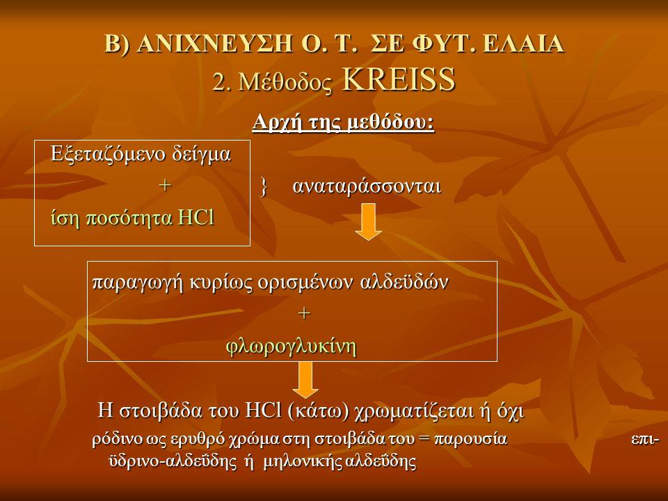 Β) ΑΝΙΧΝΕΥΣΗ Ο. Τ. ΣΕ ΦΥΤ. ΕΛΑΙΑ 2.