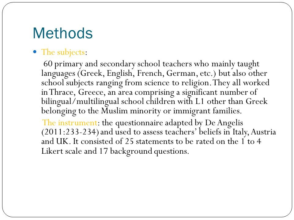 Do you have a frequent contact with native speakers of other languages outside the school.