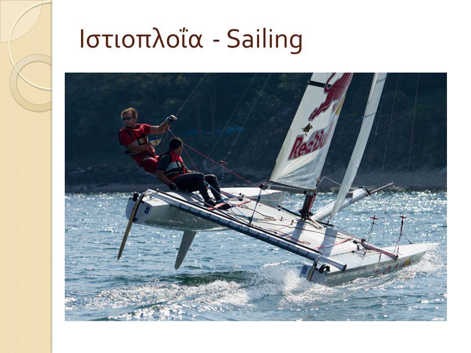 Τι είναι η Ιστιοπλοΐα – What is Sailing Η ιστιοπλοΐα είναι η τέχνη του αρμενίσματος στο νερό ( σε θάλασσα ή σε λίμνη ) χρησιμοποιώντας ως αποκλειστική ή κύρια πηγή ενέργειας τον άνεμο.