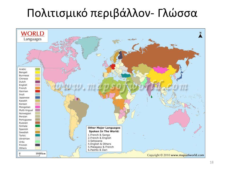 Πολιτισμικό περιβάλλον- Γλώσσα 18
