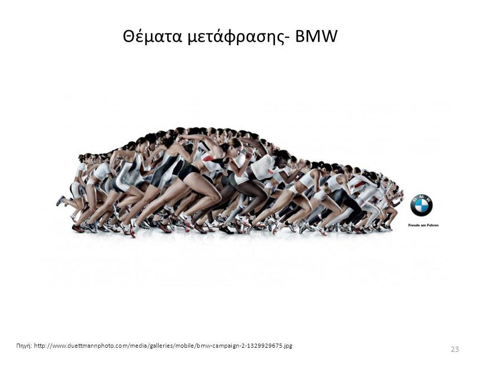 Θέματα μετάφρασης- BMW Πηγή: http://www.duettmannphoto.com/media/galleries/mobile/bmw-campaign-2-1329929675.jpg 23