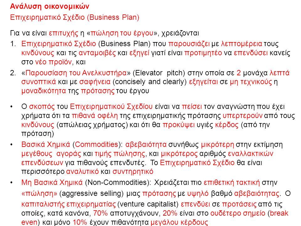 30/10/2015ΔΧ63 Ανάλυση οικονομικών Επιχειρηματικό Σχέδιο (Business Plan) Για να είναι επιτυχής η «πώληση του έργου», χρειάζονται 1.Επιχειρηματικό Σχέδ