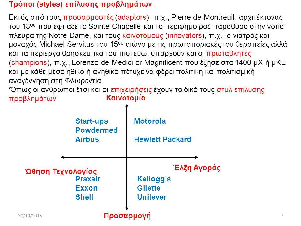 30/10/2015ΔΧ78 Ανάλυση οικονομικών - Παράδειγμα Νέο στυλό διαρκείας (ballpoint pen) Οικονομικα μοντέλα Περιορισμοί ανάλυσης VP Παίρνει υπ΄όψη μόνο μετρήσιμα μεγέθη και αγνοεί όλα τα άλλα, π.χ., αξία μάθησης και ανάπτυξης τεχνογνωσίας Αποτελέσματα είναι αξιόπιστα όσο αξιόπιστα είναι οι υποθέσεις που γίνονται και τα δεδομένα που χρησιμοποιούνται Η ανάλυση, που γίνεται για τη λήψη μόνο εσωτερικών αποφάσεων, αν παραταθεί, δημιουργεί γραφειοκρατική ατμόσφαιρα, καθυστερεί την ανάπτυξη προϊόντων και καταπνίγει τη δημιουργικότητα Kαθαρή Παρούσα Αξία (Νet Present Value) Το χρήμα αναμένεται να έχει απόδοση r, π.χ., 10%, το χρόνο.