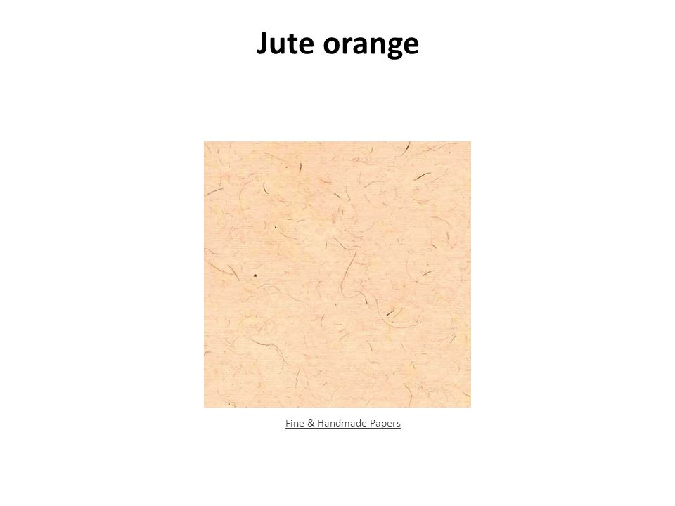 Jute orange Fine & Handmade Papers