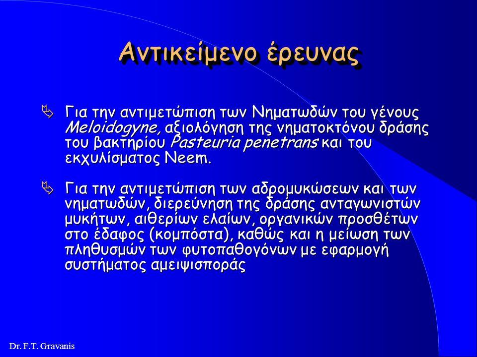 Dr. F.T. Gravanis Ερευνητική Ομάδα : l Κύρια ερευνητική ομάδα: Καθηγητής Φώτιος Γραβάνης (Συντονιστής) Καθηγητής Κωνστανίνος Ποδηματάς Καθηγητής Νικόλ