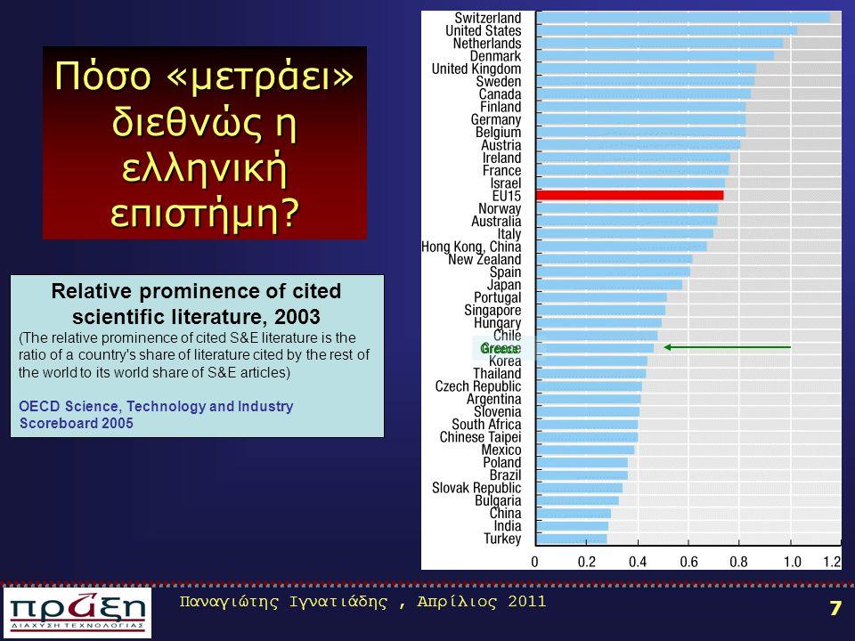 Παναγιώτης Ιγνατιάδης, Απρίλιος 2011 58 Μηνύματα σε σχέση με τη συμμετοχή στο 7 ΠΠ Μηνύματα σε σχέση με τη συμμετοχή στο 7 ο ΠΠ Οι προτάσεις υποβάλλονται απευθείας προς την Ευρωπαϊκή Επιτροπή σε συνέχεια προκηρύξεων.