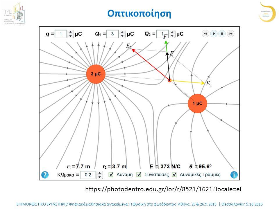 ΕΠΙΜΟΡΦΩΤΙΚΟ ΕΡΓΑΣΤΗΡΙΟ Ψηφιακά μαθησιακά αντικείμενα: Η Φυσική στο φωτόδεντρο Αθήνα, 25 & 26.9.2015 | Θεσσαλονίκη 5.10.2015 Η ιστορία από την αρχή: εμπλουτισμός Νοηματοδοτημένη παροχή δυναμικής πληροφορίας σε συγκεκριμένα σημεία του ψηφιακού εγχειριδίου.