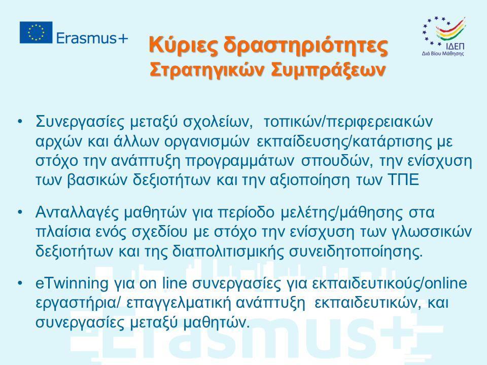 ERASMUS+ Η Ευρώπη δημιουργεί ευκαιρίες Η αίτησή σας είναι το εισιτήριό σας για επιχορήγηση και συνεργασία ΚΑΛΗ ΕΠΙΤΥΧΙΑ !!!