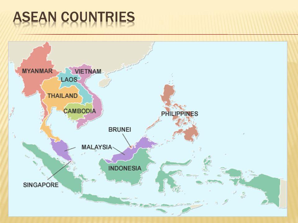  Ίδρυση 1967  Περιλαμβάνει 10 κράτη μέλη  Έδρα Τζακάρτα (Ινδονησία)  Μέλη Ινδονησία, Σιγκαπούρη, Μαλαισία, Ταϋλάνδη, Φιλιππίνες, Βιετνάμ, Καμπότζη, Λάος, Μπρουνέι, Μιανμάρ