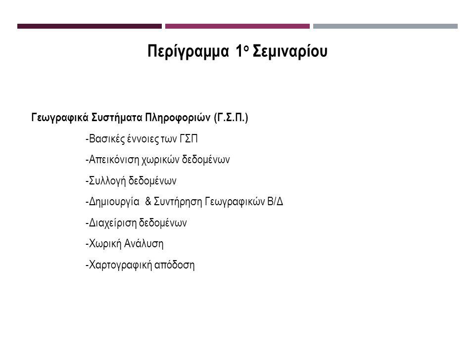 Βασικές Έννοιες των ΓΣΠ Διάφορες θεωρίες έχουν διατυπωθεί για τα ΓΣΠ : 1.