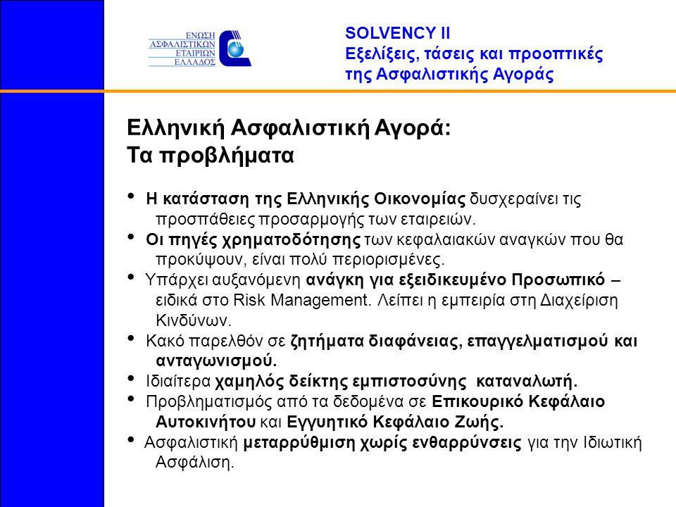 Ελληνική Ασφαλιστική Αγορά: Τα προβλήματα Η κατάσταση της Ελληνικής Οικονομίας δυσχεραίνει τις...προσπάθειες προσαρμογής των εταιρειών.