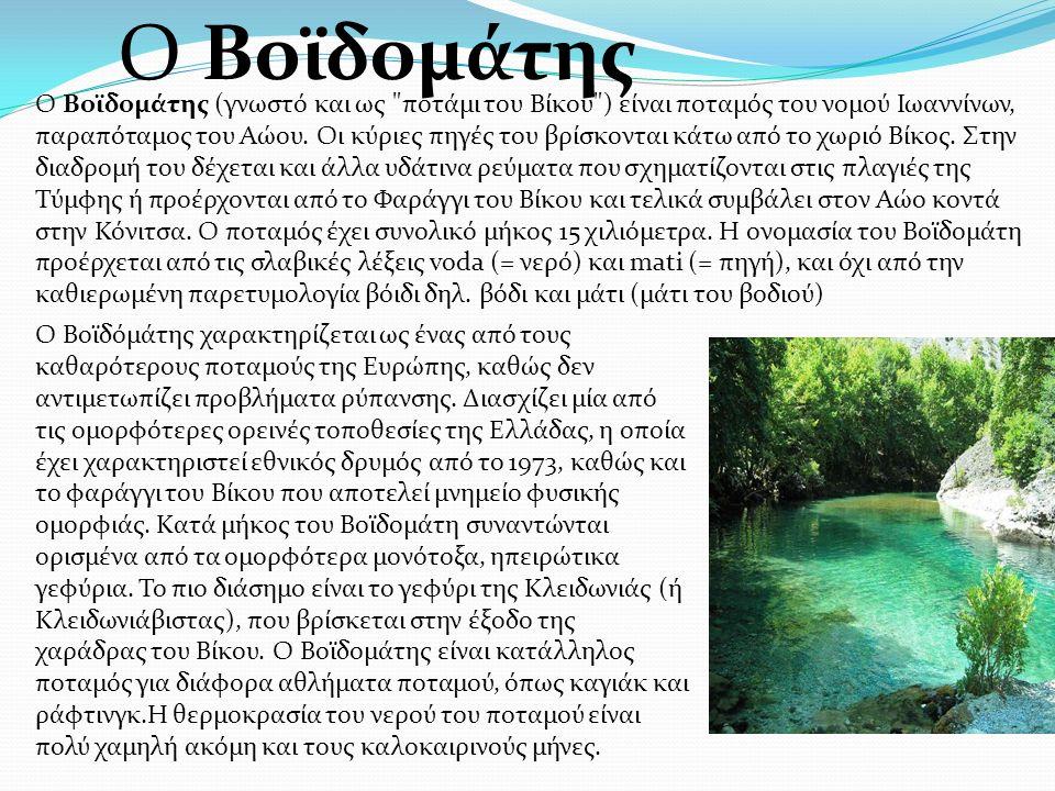 Ο Βοϊδομάτης (γνωστό και ως ποτάμι του Βίκου ) είναι ποταμός του νομού Ιωαννίνων, παραπόταμος του Αώου.