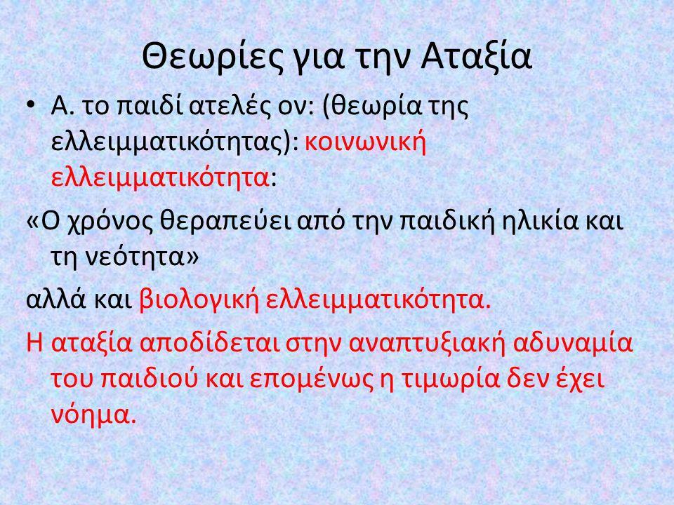 Θεωρίες για την Αταξία Α.