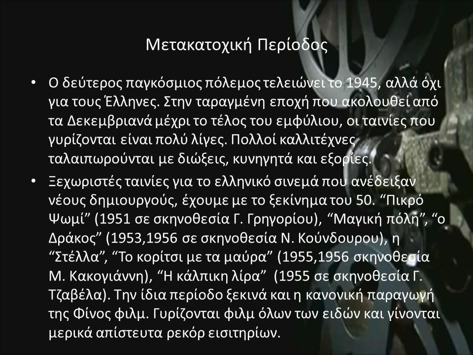 Μετακατοχική Περίοδος Ο δεύτερος παγκόσμιος πόλεμος τελειώνει το 1945, αλλά όχι για τους Έλληνες.