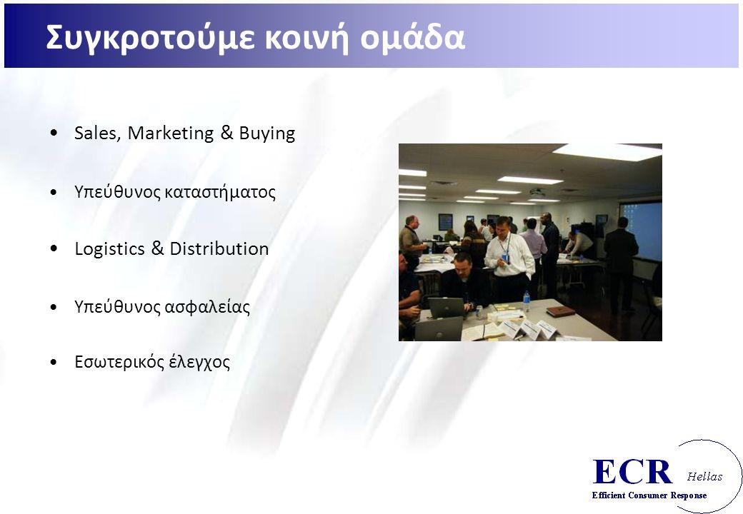 Sales, Marketing & Buying Υπεύθυνος καταστήματος Logistics & Distribution Υπεύθυνος ασφαλείας Εσωτερικός έλεγχος Συγκροτούμε κοινή ομάδα
