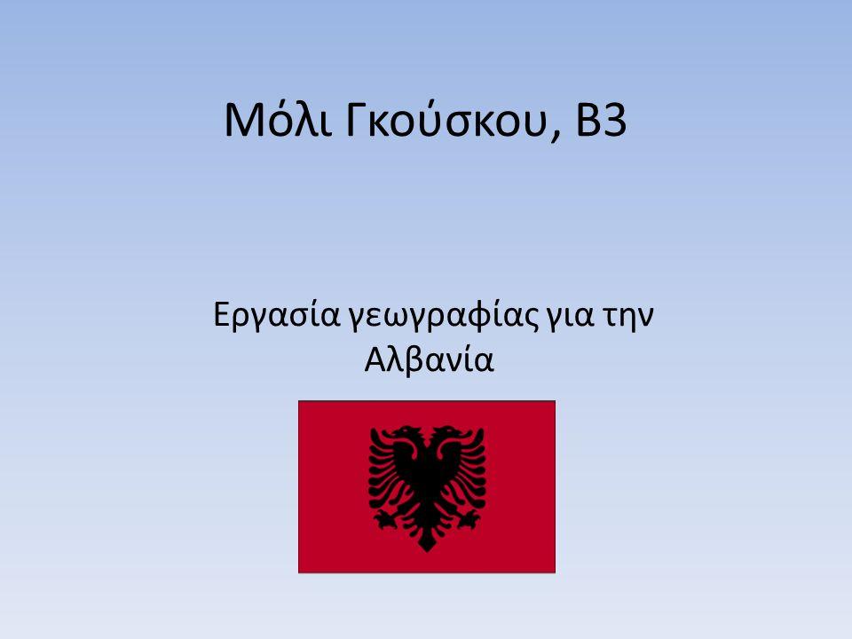 Μόλι Γκούσκου, Β3 Εργασία γεωγραφίας για την Αλβανία