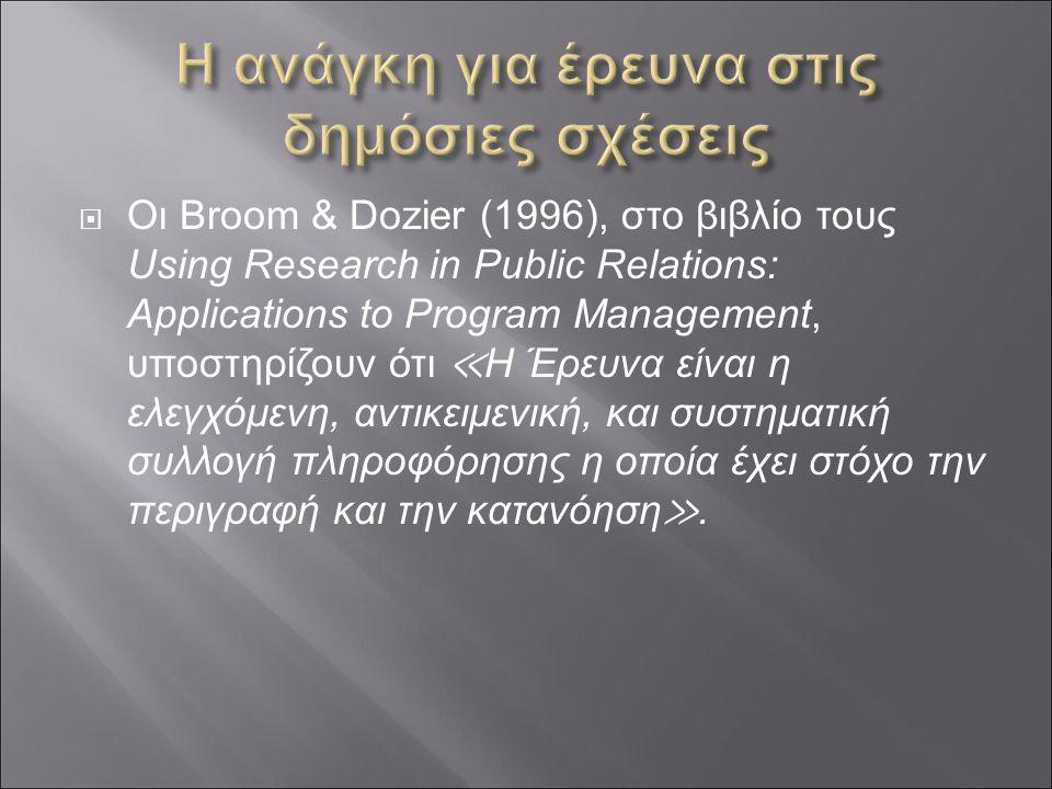 Οι έλεγχοι επικοινωνίας συνδυάζουν διάφορες ερευνητικές μεθόδους για ειδικές εφαρμογές.