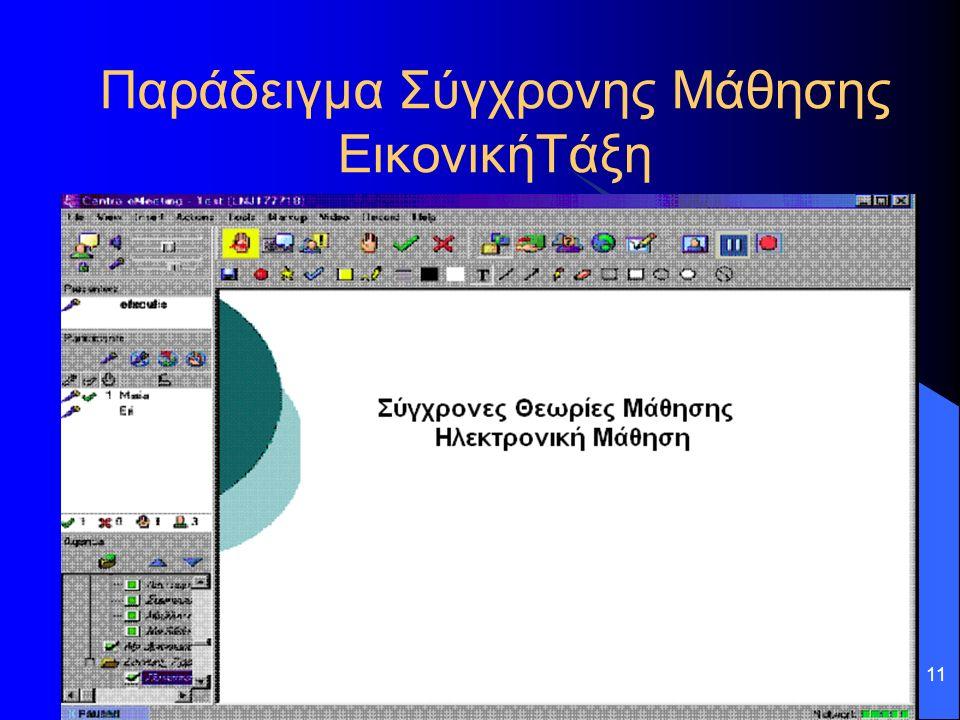 11 Παράδειγμα Σύγχρονης Μάθησης ΕικονικήΤάξη