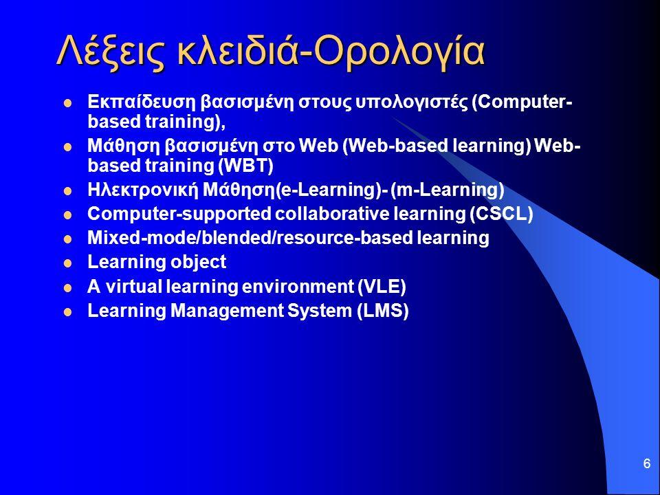 17 'Β Μέρος Θεωρίες Μάθησης & παιδαγωγικές προσεγγίσεις στην ηλεκτρονική μάθηση