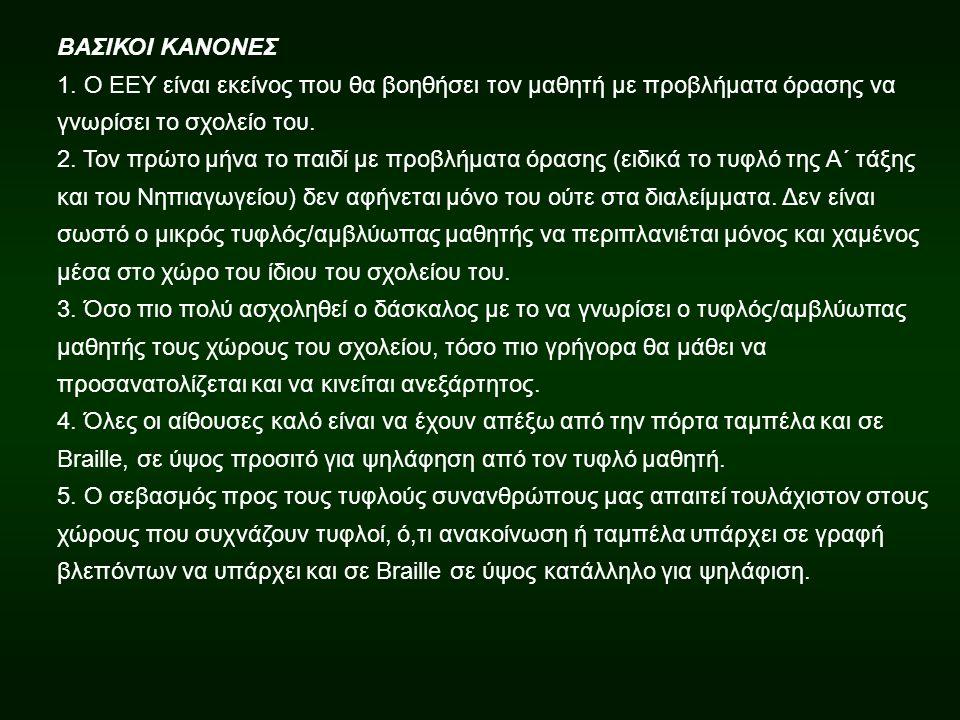 ΒΑΣΙΚΟΙ ΚΑΝΟΝΕΣ 1.