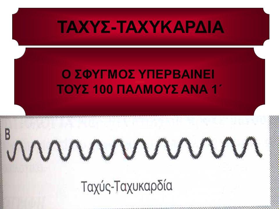 ΤΑΧΥΣ-ΤΑΧΥΚΑΡΔΙΑ Ο ΣΦΥΓΜΟΣ ΥΠΕΡΒΑΙΝΕΙ ΤΟΥΣ 100 ΠΑΛΜΟΥΣ ΑΝΑ 1΄