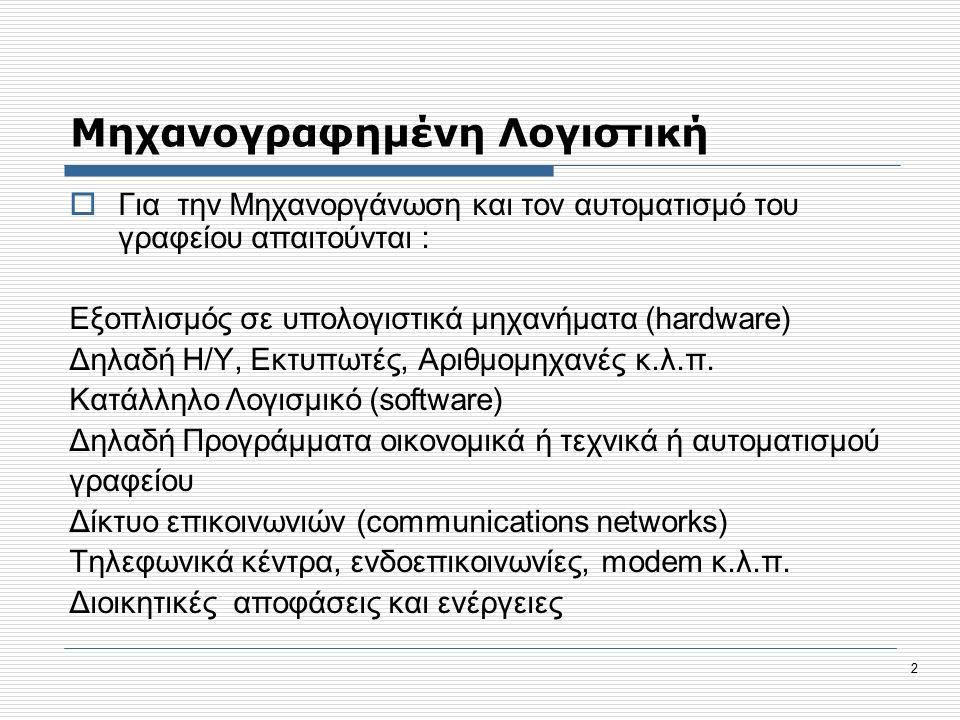 53 Μορφές Κωδικών  Μια από τις σημαντικότερες ενέργειες είναι ο καθορισμός της μορφής του κωδικού της Γενικής & της Αναλυτικής Λογιστικής.