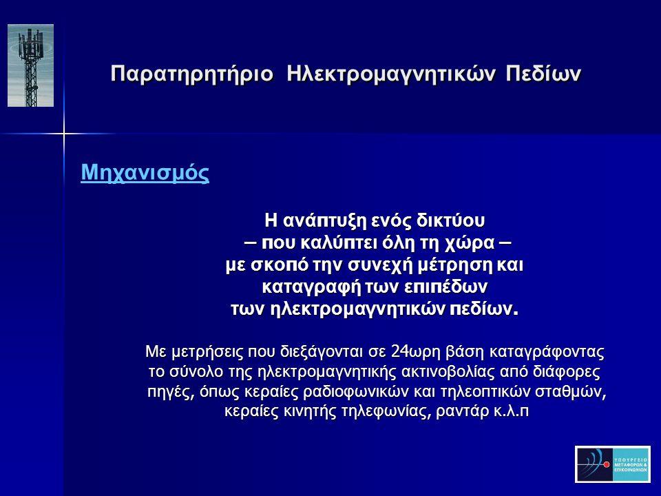 Παρατηρητήριο Ηλεκτρομαγνητικών Πεδίων Παρατηρητήριο Ηλεκτρομαγνητικών Πεδίων Διεθνής Εμπειρία - Όρια ΓΑΛΛΙΑ ΝΑΙ ΦΙΝΛΑΝΔΙΑΝΑΙ ΣΟΥΗΔΙΑ ΝΑΙ ΟΛΛΑΝΔΙΑΝΑΙ ΙΡΛΑΝΔΙΑΝΑΙ ΒΟΥΛΓΑΡΙΑΟΧΙ ΙΤΑΛΙΑΝΑΙ ΣΛΟΒΕΝΙΑΝΑΙ ΓΕΡΜΑΝΙΑ ΝΑΙ Μ.