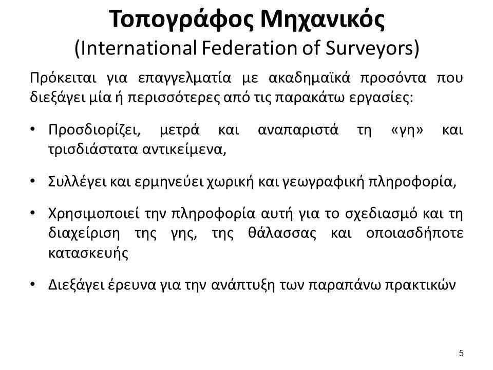 Παραδοχή της Παραλληλίας των κατακορύφων στις τοπογραφικές εργασίες (μη παραλληλία των κατακορύφων) 1/2 16