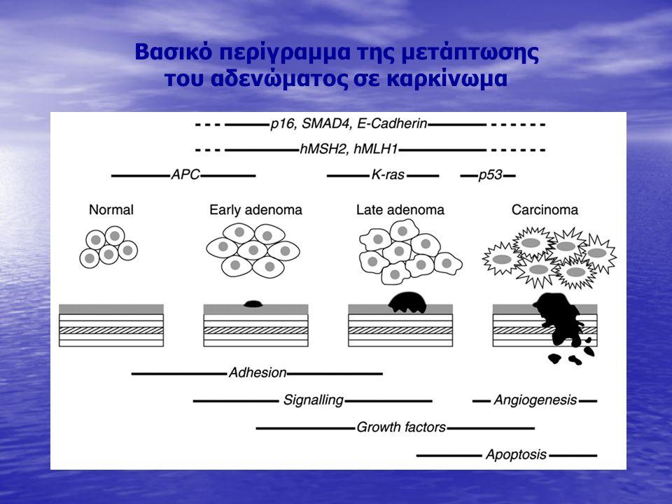 Βασικό περίγραμμα της μετάπτωσης του αδενώματος σε καρκίνωμα