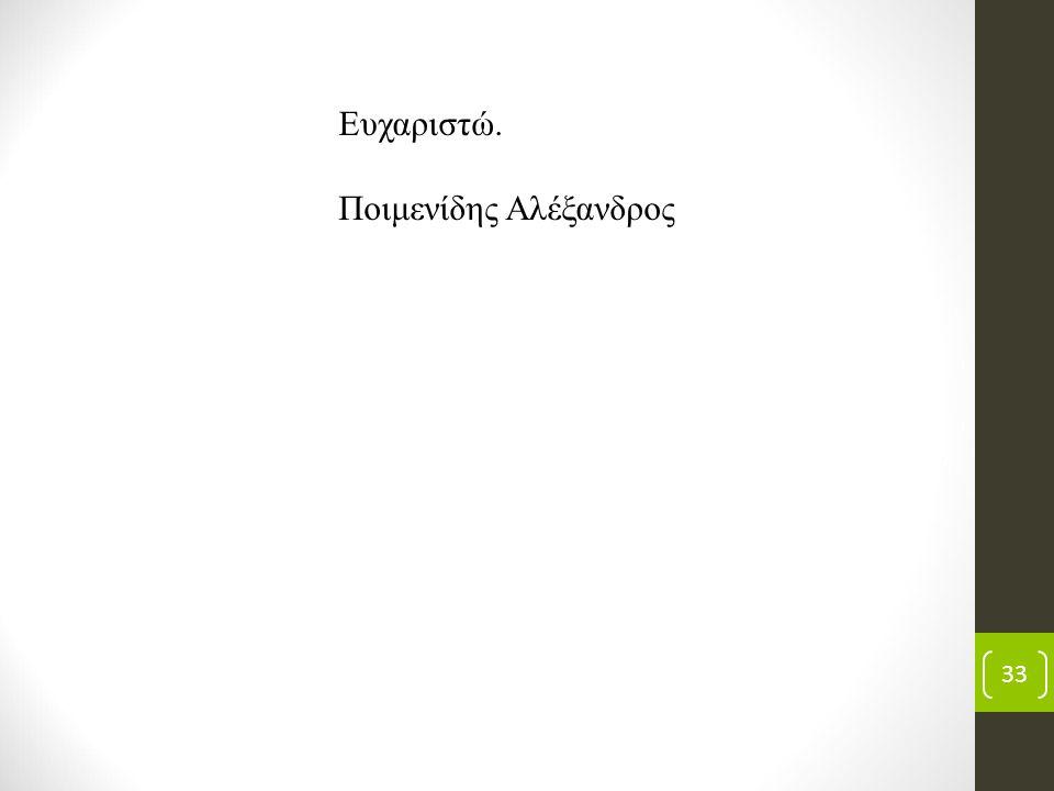 33 Ευχαριστώ. Ποιμενίδης Αλέξανδρος