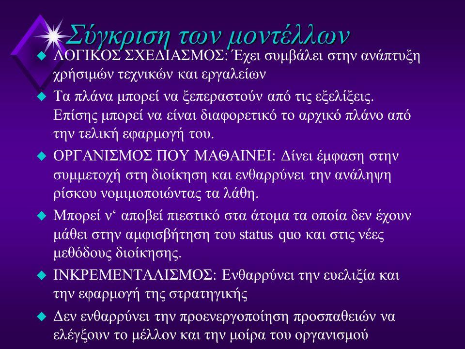 Οι ανικανότητες της οργανωσιακής μάθησης u I am my position (e.g.