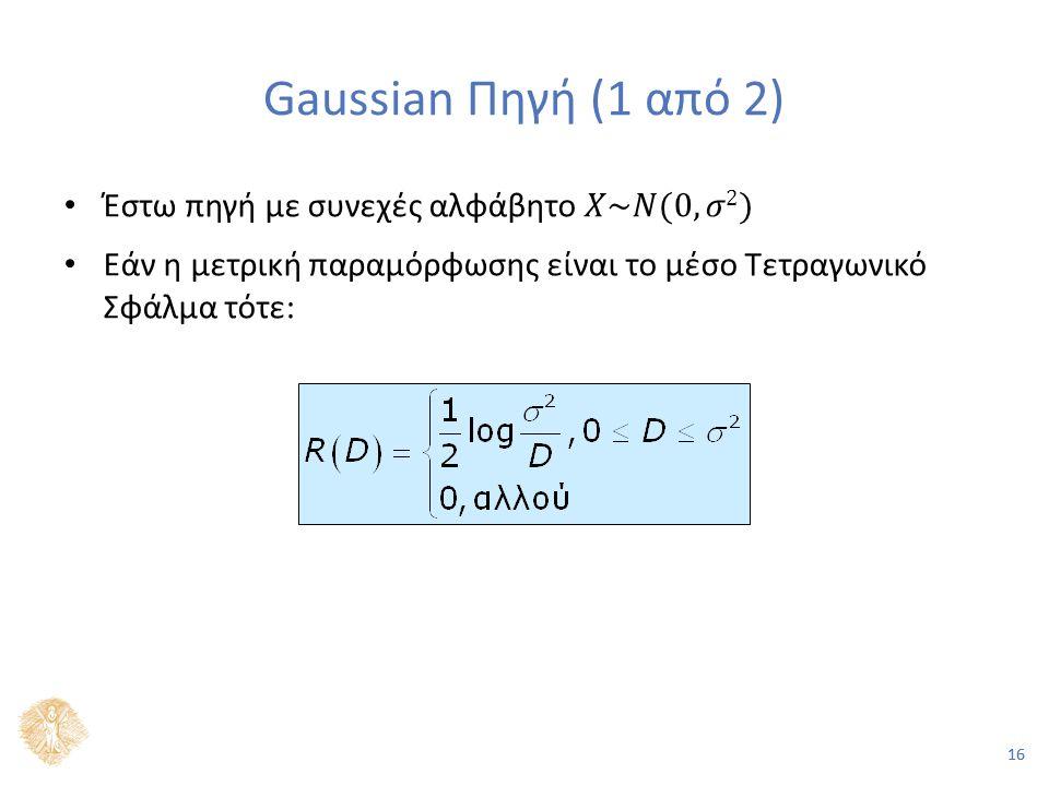 16 Gaussian Πηγή (1 από 2)