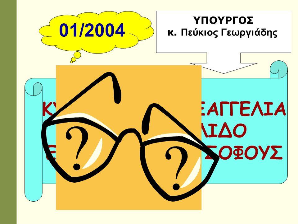 2005-07 ΣΥΣΤΑΣΗ ΕΠΙΤΡΟΠΩΝ ΓΙΑ ΜΕΛΕΤΗ: ΑΞΙΟΛΟΓΗΣΗ ΑΝΑΒΑΘΜΙΣΗ ΠΑΙΔ.