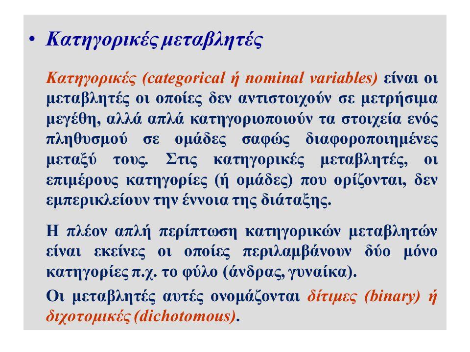 Μέτρα ασυμμετρίας Η ασυμμετρία (skewness) μιας κατανομής έχει να κάνει με την εκτροπή της κατανομής από την κανονικότητα.