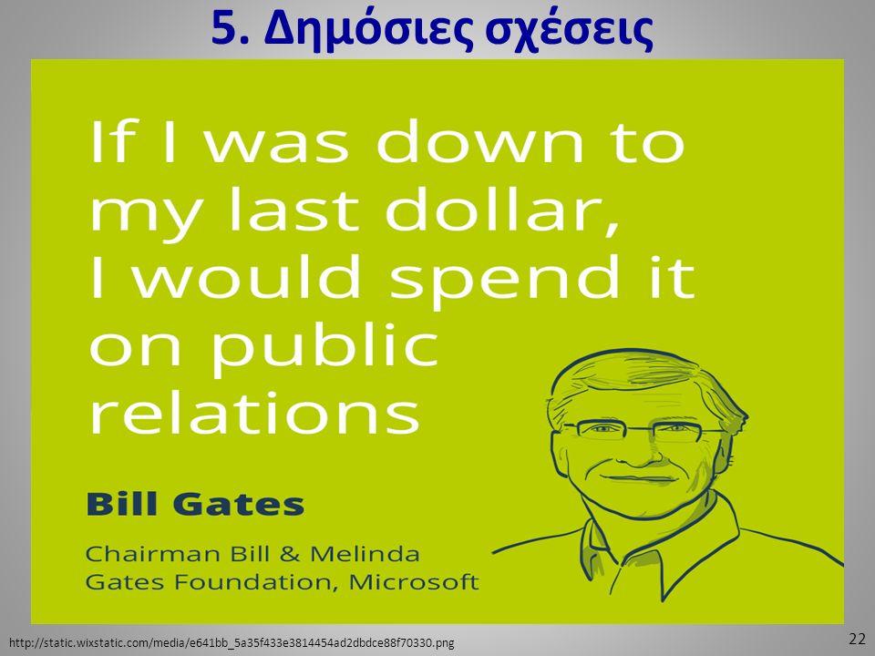 5. Δημόσιες σχέσεις 22 http://static.wixstatic.com/media/e641bb_5a35f433e3814454ad2dbdce88f70330.png