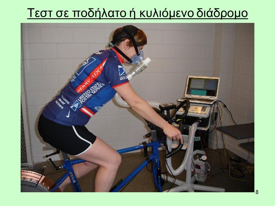 8 Τεστ σε ποδήλατο ή κυλιόμενο διάδρομο