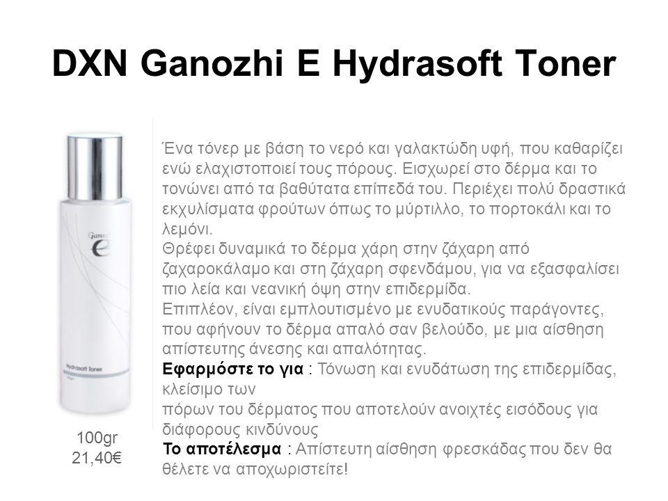 DXN Ganozhi E Hydrasoft Toner Ένα τόνερ με βάση το νερό και γαλακτώδη υφή, που καθαρίζει ενώ ελαχιστοποιεί τους πόρους.