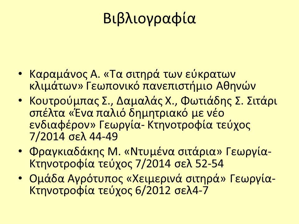 Βιβλιογραφία Καραμάνος Α.