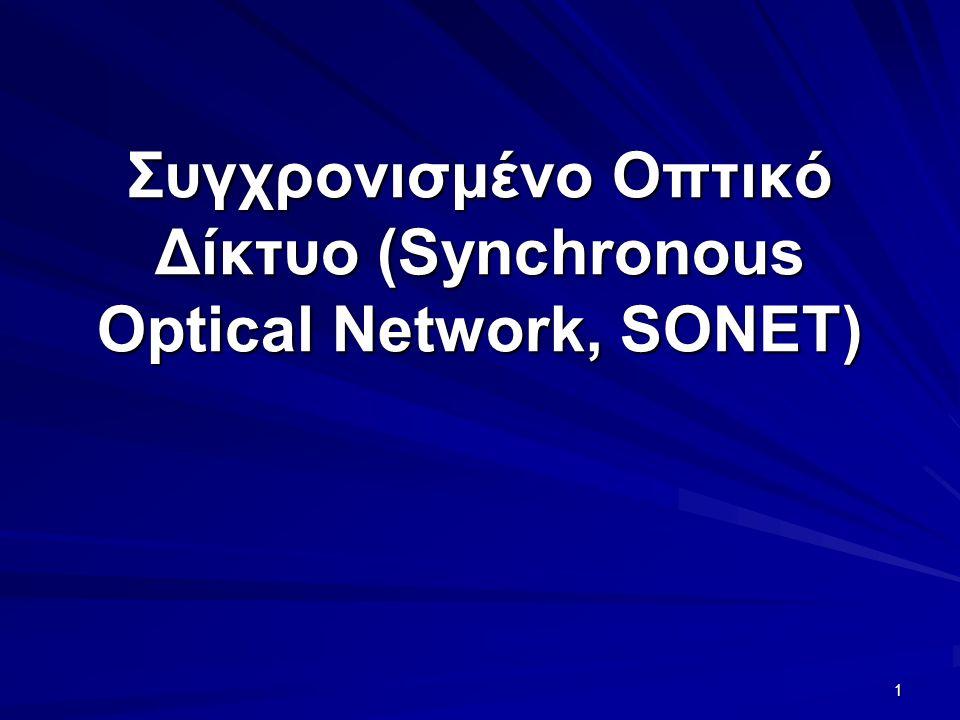 1 Συγχρονισμένο Οπτικό Δίκτυο (Synchronous Optical Network, SONET)